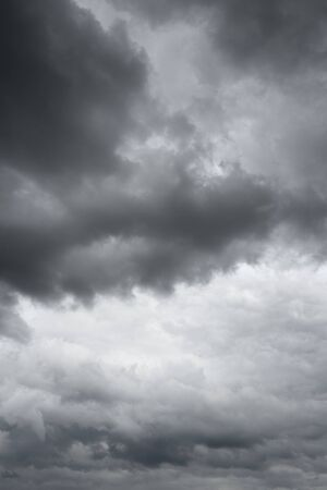 over the horizon: Thunderclouds over horizon. Storm sky background.