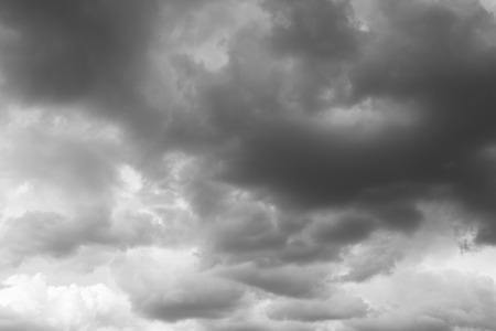 over the horizon: Storm sky rainy clouds over horizon. Stock Photo