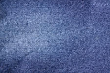 scrunch: Dark blue vintage denim jeans texture. Jeans background. Stock Photo