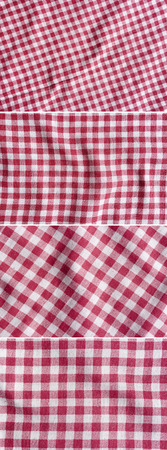 p f: Red and white picnic tablecloth texture. Four image of, every photo 6 MP, 3000 x 2000.
