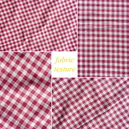picnic tablecloth: Red and white picnic tablecloth texture.  Stock Photo