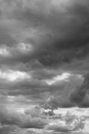 Cloudy sky over horizon. Rain clouds background. Stock Photo