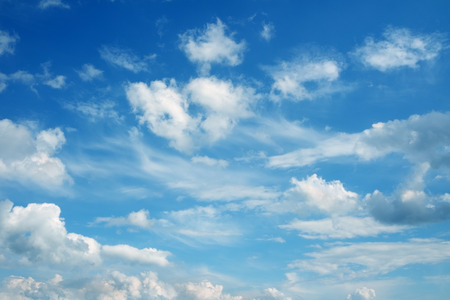 with clouds: Beautiful cloudscape over horizon. Blue sky and clouds.