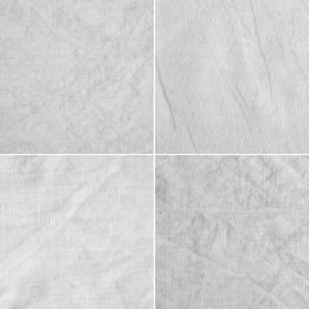fabric textures: Canvas, crumpled. Four fabric textures with delicate striped pattern.