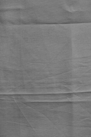 scrunch: Gray canvas. Texture with delicate striped pattern, crumpled. Stock Photo