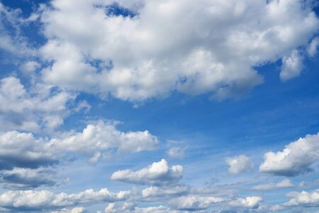 over the horizon: Beautiful cloudscape over horizon. Blue sky and clouds.