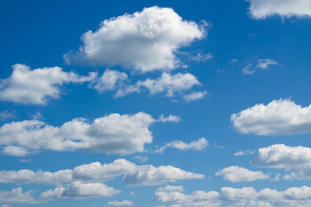 beautiful heaven: Blue sky, big and small clouds. Beautiful cloudscape over horizon. Heaven.
