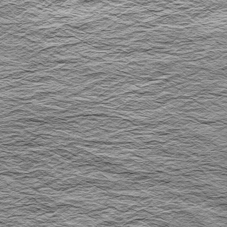 scrunch: Gray crumpled fabric texture. Canvas with delicate striped pattern. Stock Photo