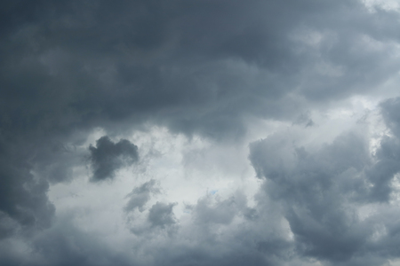 over the horizon: Thunderclouds over horizon, cloudscape, storm. Cloudy sky background.