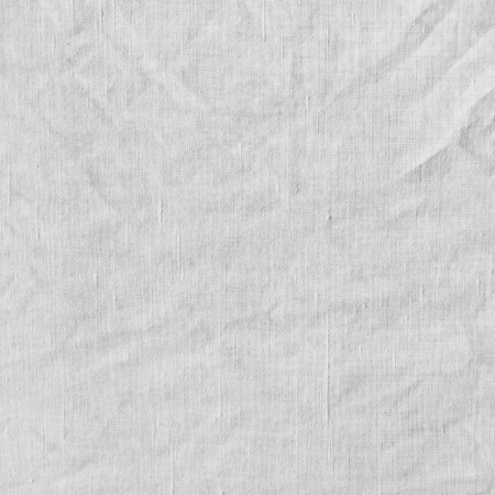 scrunch: Fabric texture, background. White canvas with delicate striped pattern, crumpled.