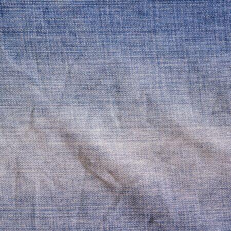 crumple: Blue vintage denim jeans background. Jeans texture, fabric.