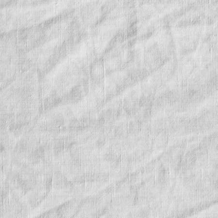 scrunch: Canvas with delicate striped pattern, crumpled. Fabric texture, background. Stock Photo
