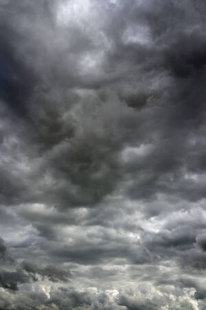 cloudy moody: Moody clouds before a thunderstorm. Cloudy sky over horizon.