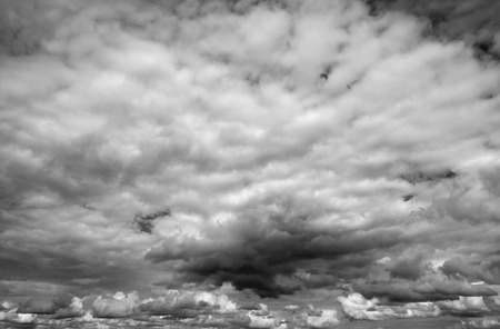 cloudy moody: Cloudy sky over horizon. Moody clouds before a thunderstorm.