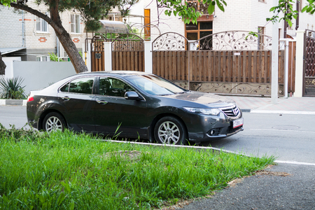 accord: SOCHI, RUSSIA - APRIL 29, 2016: Honda Accord parked on the streets of Sochi. Editorial
