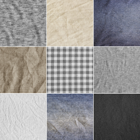 mp: Different fabric backgrounds, textures. Every image 4 MP, 2000 x 2000. Colorful fabric. Stock Photo