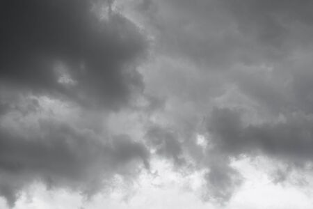 over the horizon: Clouds over horizon, cloudscape, storm. Gray clouds background. Stock Photo