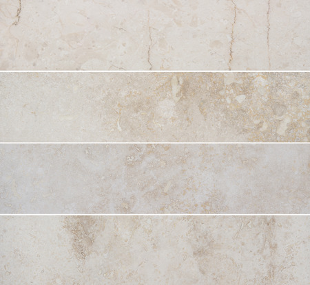 Four different high quality beige marble backgrounds with natural pattern. Marble texture with abstract pattern.
