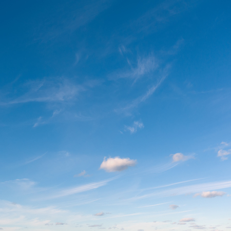 Background of blue sky and clouds.