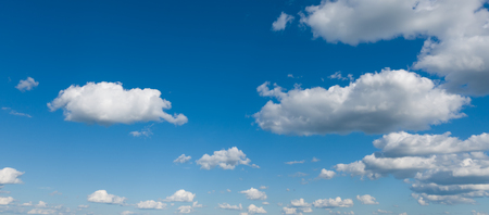 Beautiful sky panorama, blue sky and white clouds.