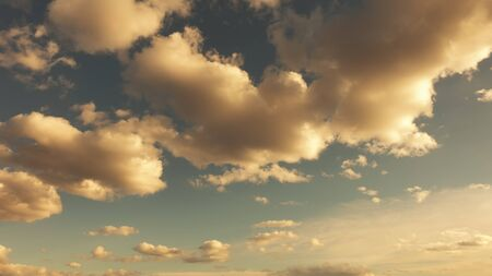 Sky vintage background with fluffy clouds.