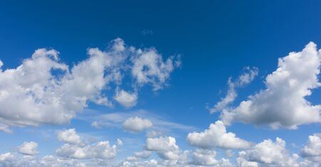 Beautiful white clouds and blue sky. Professional shoot, no birds