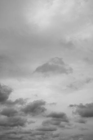 Small beautiful clouds. Rainy clouds over horizon
