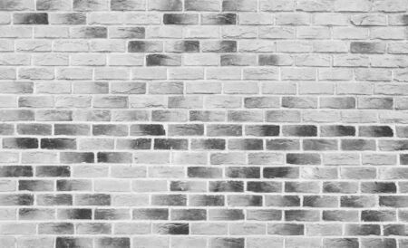 Beautiful black and white bricks wall, loft. Brick wall texture or background.