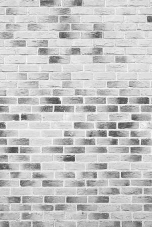 Black and white brick wall, loft. Beautiful new brick wall texture or background, interior.