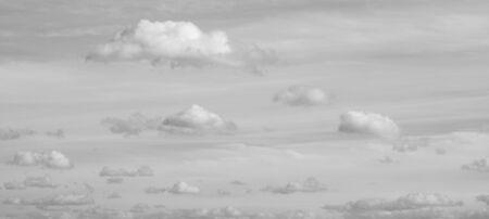 Clouds over horizon. Panorama sky with light clouds
