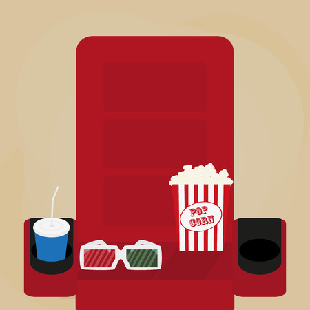 spilled: Spilled popcorn on a brow background, cinema, movies and entertainment concept, soda water in glass