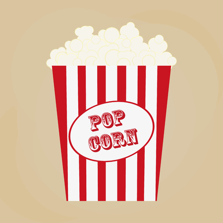brow: Spilled popcorn on a brow background, cinema, movies and entertainment concept