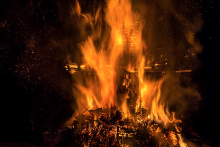 luxembourg: Ritual bonfire Luxembourg