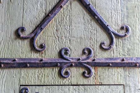 flanders: Old castle wooden door, Gent, Flanders, Belgium
