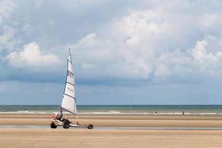 windy: Windy day in De-Panne, Flanders, Belgium Editorial