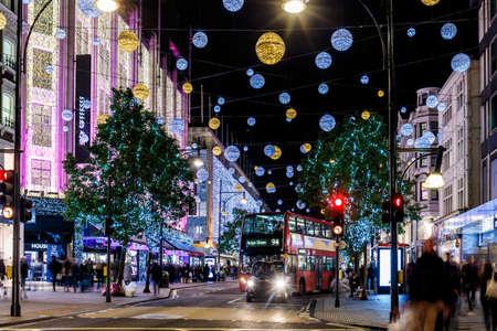 Christmas lights 2016 on Oxford street, London, England
