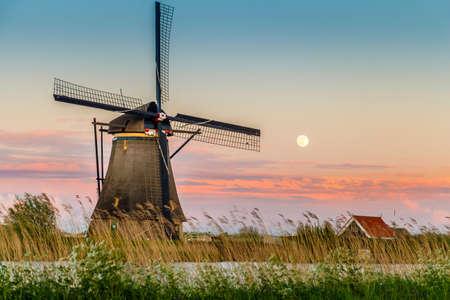 Windmills of kinderdijk, Holland Stock Photo
