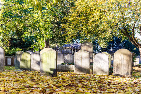 died: Chiswick church in autumn, London, England