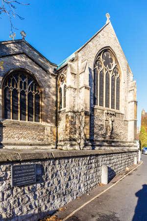 Chiswick church in autumn, London, England