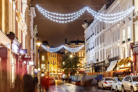 Christmas lights 2016 in Covent Garden, London, England