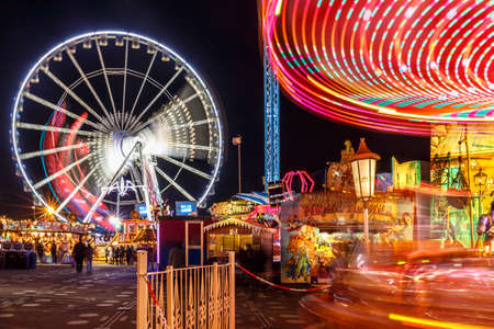 Christmas fair in Hyde park in 2016, London Banco de Imagens