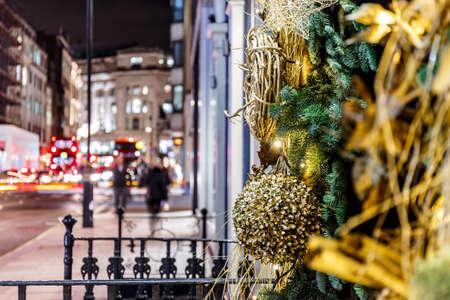Christmas decoration in Mayfair, London, England