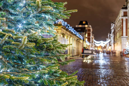 covent garden market: Christmas lights 2016 in Covent Garden, London, England