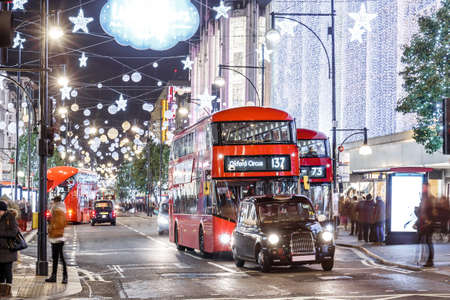 Christmas lights 2016 on Oxford street, London, England
