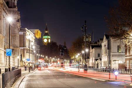 Night street in Christmas, London