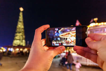 photo story: Taking photo of Christmas fair in Hyde park in 2016, London