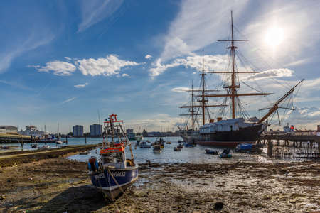 Portsmouth in summer, England, UK Editorial