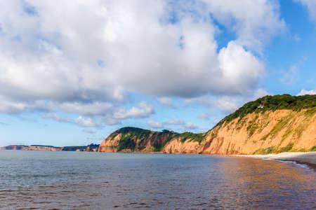 Travelling at Jurassic coast seaside (Devon), UK