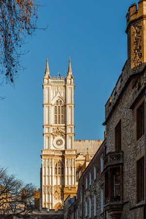 Westminster abbey in winter morning, London