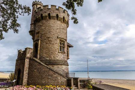 gloom: Isle of Wight in summer, England, UK